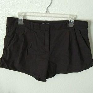 Theory draped shorts